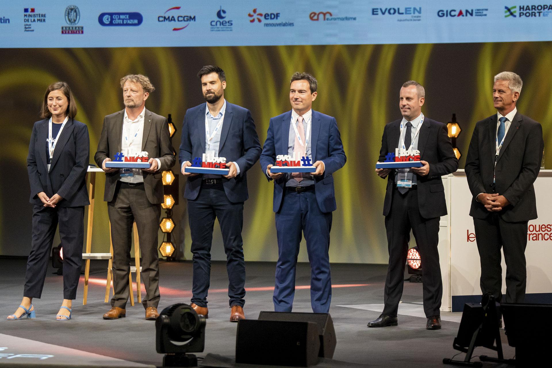 Remise des prix du Blue Innovation Challenge lors des Assises de l'économie de la Mer